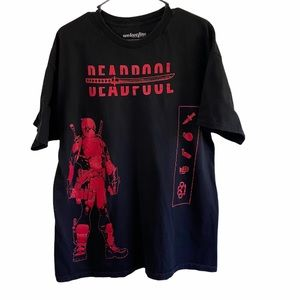 Marvel Deadpool Black and Red T-shirt
